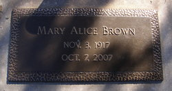 Mary Alice <i>Arnold</i> Brown