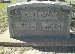Allie May <i>Baxter</i> Anthony