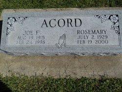 Rosemary <i>Fisher</i> Acord
