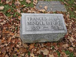 Frances Julia <i>Mindel</i> LeFort
