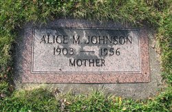 Alice Margaret <i>Lindell</i> Johnson