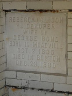 Rebecca Colhoon <i>Huidekoper</i> Bond