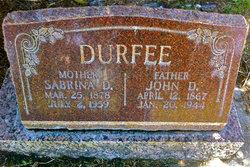 Sabrina Eliza <i>Draper</i> Durfee