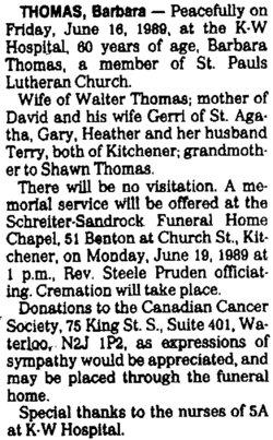 Barbara Louise <i>Weaver</i> Thomas