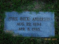 Ethel <i>Beck</i> Anderson