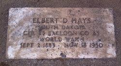 Elbert D Hays