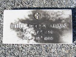 Ethel <i>Brown</i> Adams