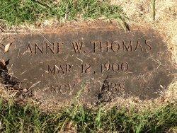 Annie Isabel <i>Watson</i> Thomas