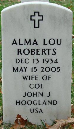Alma Lou <i>Roberts</i> Hoogland