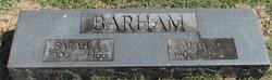 Sarah E <i>Leftwich</i> Barham