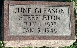 June E. <i>Gleason</i> Steepleton
