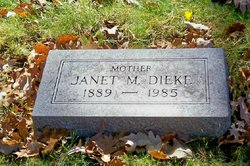Janet Montgomery <i>Brown</i> Dieke