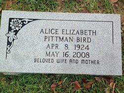 Alice Elizabeth <i>Pittman</i> Bird