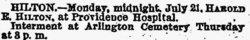 Pvt Harold E. Hilton