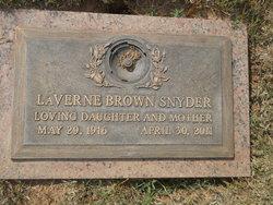 LaVerne <i>Brown</i> Snyder