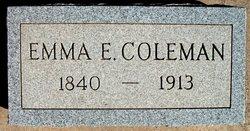 Emma Beck <i>Evans</i> Coleman