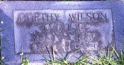 Dorothy <i>Wilson</i> Cole
