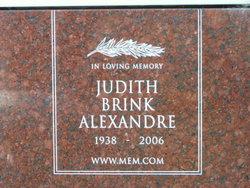 Judith Carolyn <i>Brink</i> Alexandre