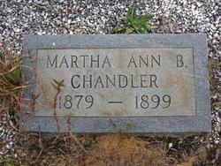 Martha Ann B Chandler
