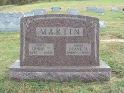 Minnie E <i>Ensminger</i> Martin