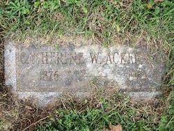 Catherine W Ackerman