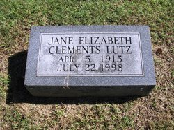 Jane Elizabeth <i>Clements</i> Lutz