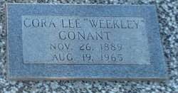 Cora Lee <i>Weekley</i> Conant