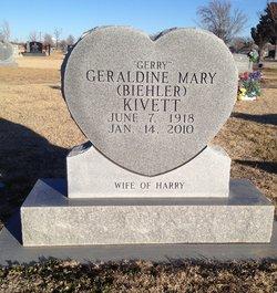 Geraldine Mary Gerry <i>Biehler</i> Kivett