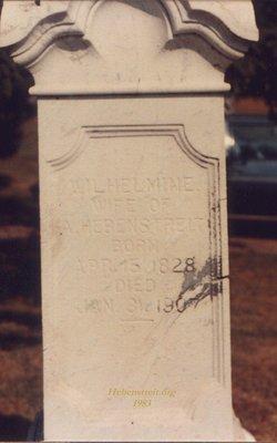 Wilhelmine Henriette <i>Bartum</i> Hebenstreit