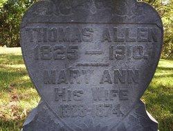 Mary Ann <i>Baugher</i> Allen