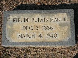 Gertrude <i>Purvis</i> Manuel