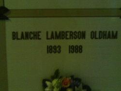 Blanche <i>Lamberson</i> Oldham