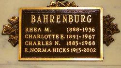 Rhea M Bahrenburg