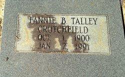 Fannie B. <i>Talley</i> Crutchfield