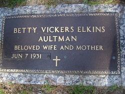 Betty <i>Vickers</i> Aultman