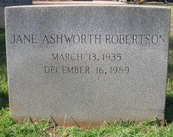 Jane <i>Ashworth</i> Robertson