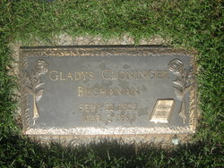 Gladys Lucille <i>Cloninger</i> Buchanan