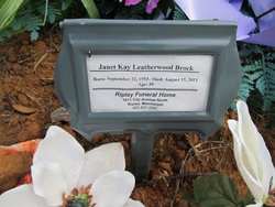 Janet Kay <i>Leatherwood</i> Brock