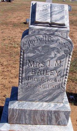 Mrs Isabella Minerva <i>Redus</i> Bailey