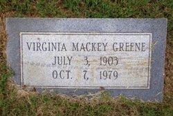 Virginia <i>Mackey</i> Greene
