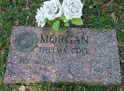 Thelma Melissa <i>Cole</i> Morgan