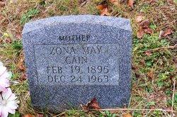 Zona May <i>Lemasters</i> Cain