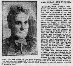 Sarah Ann <i>Gilliam</i> Hobart