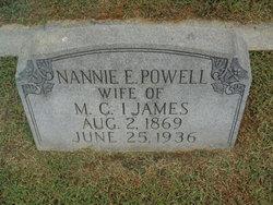 Nannie E <i>Powell</i> Ijames