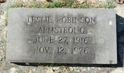 Leslie <i>Robinson</i> Armstrong