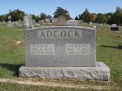 Alice G <i>Weatherford</i> Adcock