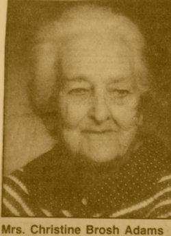 Christine <i>Brosh</i> Boutwell Adams