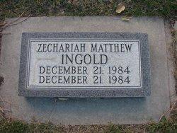 Zecharia Matthew Ingold
