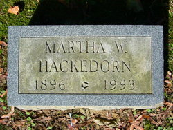 Martha Washington <i>Rissler</i> Hackedorn