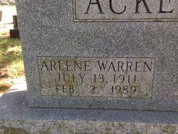 Arlene <i>Warren</i> Ackerman
